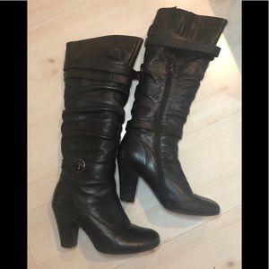 Steve Madden black knee high boots size 8.